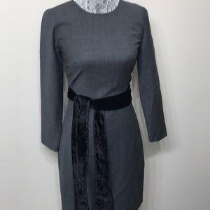 NWT J.Crew women's gray long sleeve dress size 00